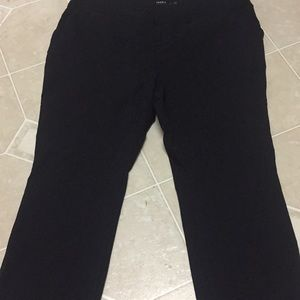 Black stretch trousers 42 inches length
